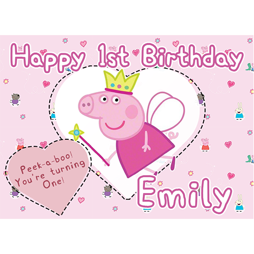 Miraculous Peppa Pig Sweet Tops Personalised Edible Cake Toppers And Funny Birthday Cards Online Overcheapnameinfo
