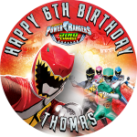 Power Rangers Round Edible Cake Topper