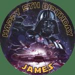Star Wars Round Edible Cake Topper