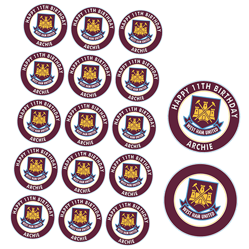 West Ham United Football Club Cupcake Toppers #1