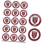 West Ham United Football Club Edible Cupcake Toppers