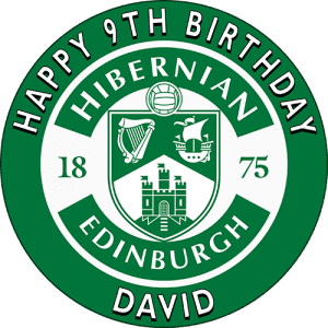 Hibernian Edinburgh Football Club Round Edible Cake Topper