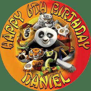 Kung Fu Panda Round Edible Cake Topper