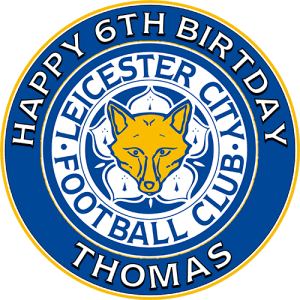 Leicester City Football Club Round Edible Cake Topper