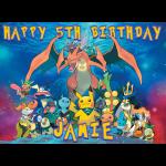 Pokemon Rectangle Edible Cake Topper