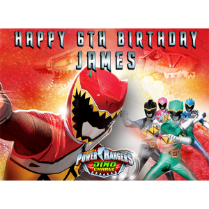 Power Rangers Dino Charge Rectangle Edible Cake Topper