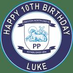 Preston North End Football Club Round Edible Cake Topper