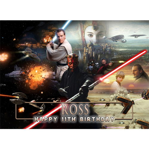 Magnificent Star Wars Sweet Tops Personalised Edible Cake Toppers And Funny Birthday Cards Online Bapapcheapnameinfo