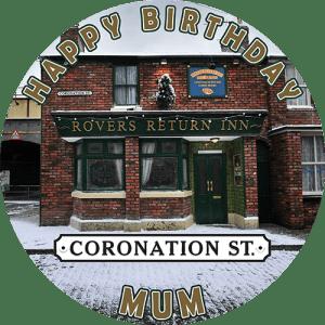 Coronation St. Round Edible Cake Topper