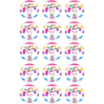 Easter Edible Cupcake Toppers