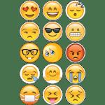 Emoji Edible Cupcake Toppers