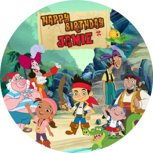 Jack and the Neverland Pirates Round Edible Cake Topper