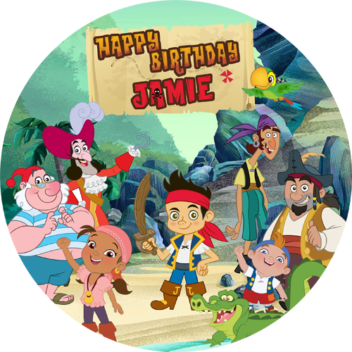 Wondrous Jack And The Neverland Pirates Sweet Tops Personalised Edible Funny Birthday Cards Online Elaedamsfinfo