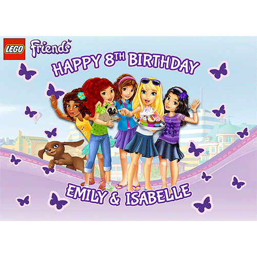 Brilliant Lego Friends Sweet Tops Personalised Edible Cake Toppers And Personalised Birthday Cards Paralily Jamesorg