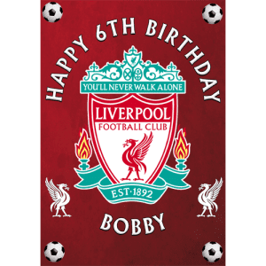 Liverpool Football Club Rectangle Edible Cake Topper