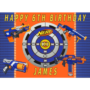 Nerf Rectangle Edible Cake Topper