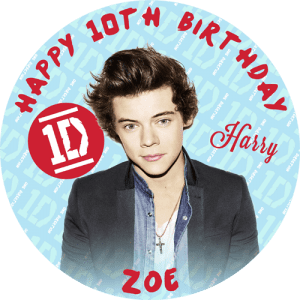 One Direction Harry Round Edible Cake Topper