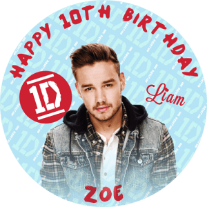 One Direction Liam Round Edible Cake Topper