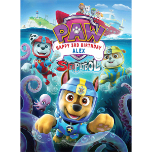 Paw Patrol - Sea Patrol Rectangle Edible Cake Topper