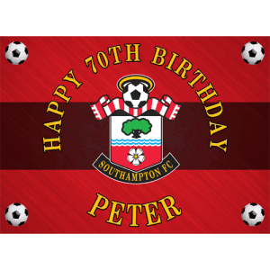 Southampton Football Club Rectangle Edible Cake Topper