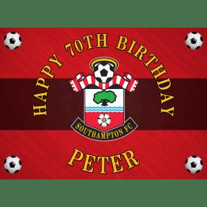 Southampton Football Club Rectangle Edible Cake Topper