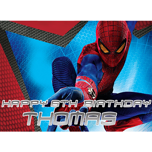 Miraculous Spider Man Sweet Tops Personalised Edible Cake Toppers And Funny Birthday Cards Online Unhofree Goldxyz