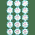 Thank You Teacher Edible Cupcake Toppers