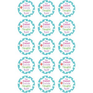 Thank You Teacher Edible Cupcake Toppers
