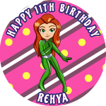 Totally Spies Round Edible Cake Topper