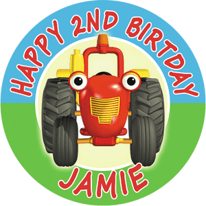Tractor Tom Round Edible Cake Topper