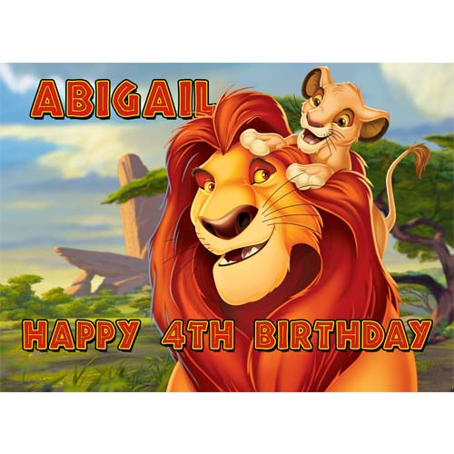 Groovy Lion King Sweet Tops Personalised Edible Cake Toppers And Funny Birthday Cards Online Barepcheapnameinfo