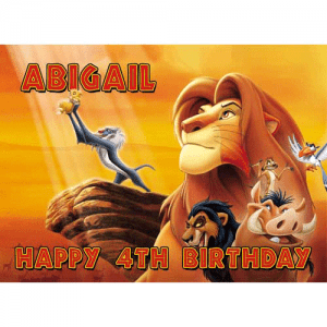 Lion King Rectangle Edible Cake Topper