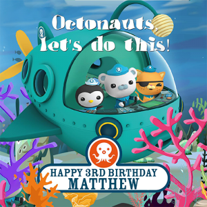 Octonauts Square Edible Cake Topper