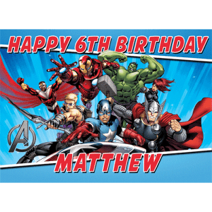 Avengers Rectangle Edible Cake Topper